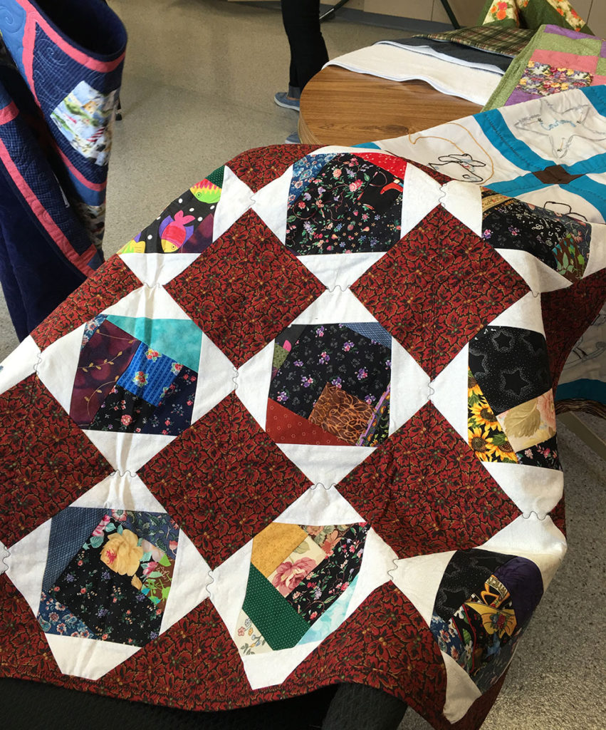 one of the quilts made by the ladies
