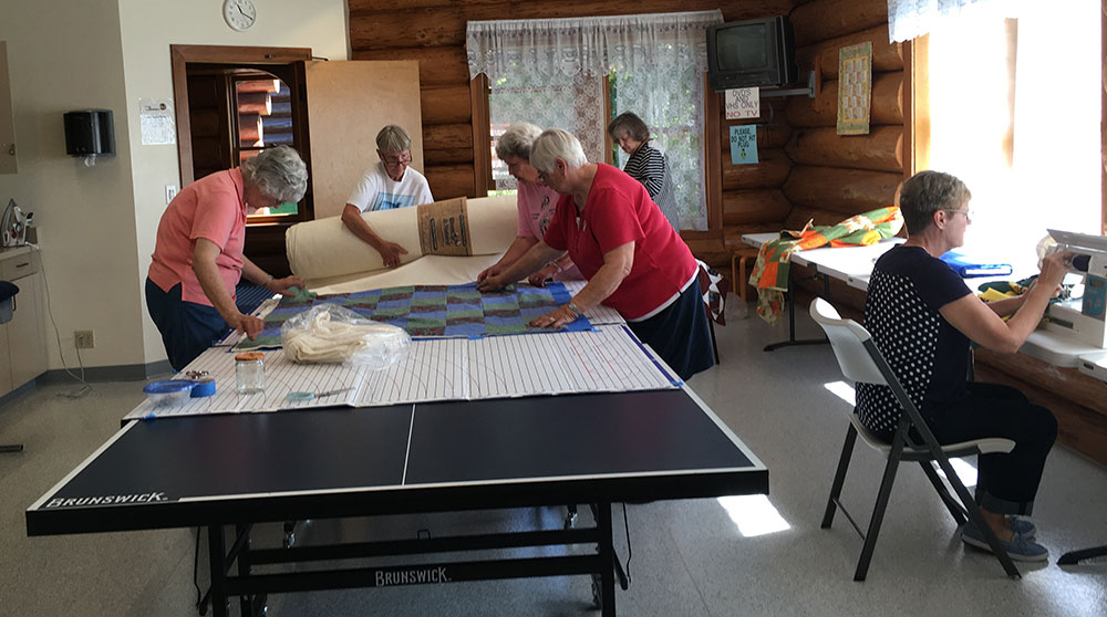 Birch Bay Quilters hard at work